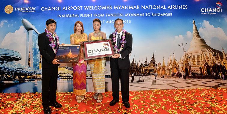 Singapore Changi Airport Myanmar National Airlines Yangon