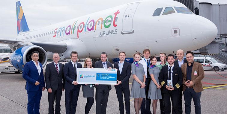 Small Planet Airlines Dusseldorf and Fuerteventura
