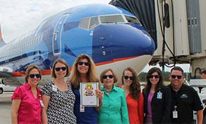 Southwest Florida Airport celebrates Cake of the Week win while Ryanair celebrates one year of Glasgow flights