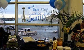 Alaska Airlines chugs into Charleston
