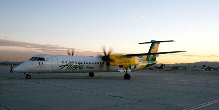 alaska airlines san jose airport in california to eugene oregon ducks