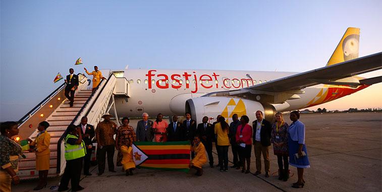 fastjet zimbabwe harare to victoria falls