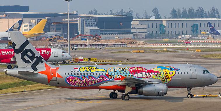 jetstar asia paint job a320 50 special singaporeans