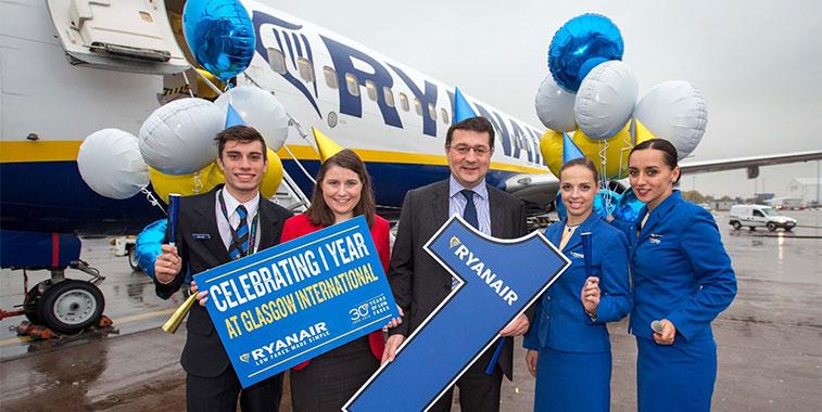 ryanair starts 21 new routes berlin schonefeld glasgow