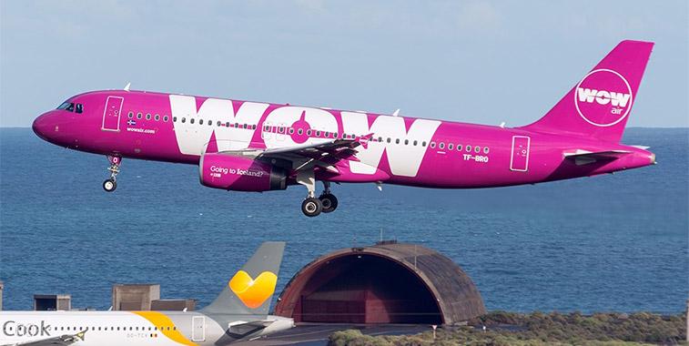 WOW air's inaugural service from Reykjavik/Keflavik