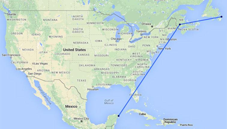 Air Transat route
