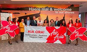 AirAsia X arrives in Auckland via Australia