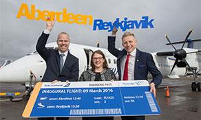 Icelandair arrives in Aberdeen