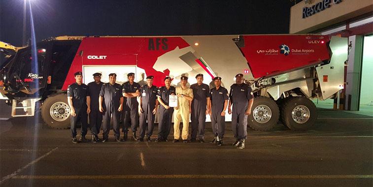 Middle Eastern mega hub's fire crew at Dubai