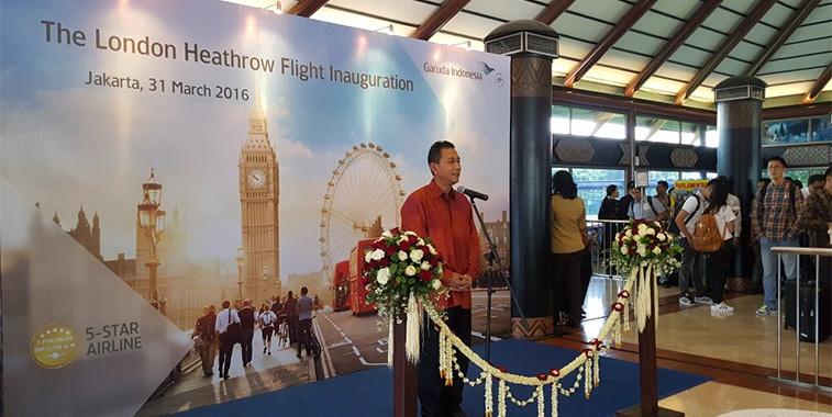 Garuda Indonesia's inaugural service to London Heathrow (via Singapore)