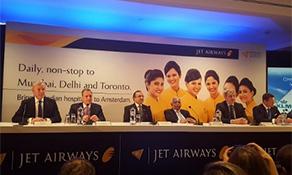 Jet Airways arrives in Amsterdam