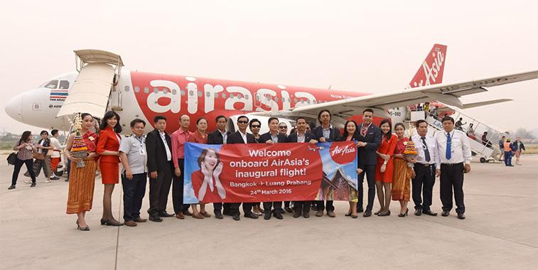 Thai AirAsia's first service from Bangkok Don Mueang to Luang Prabang in Laos