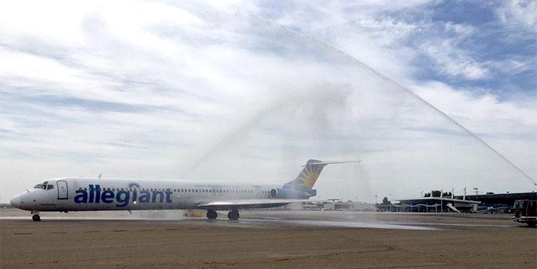 Allegiant Air San Diego to Stockton 7 April