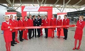 Austrian Airlines again serves Shanghai Pudong