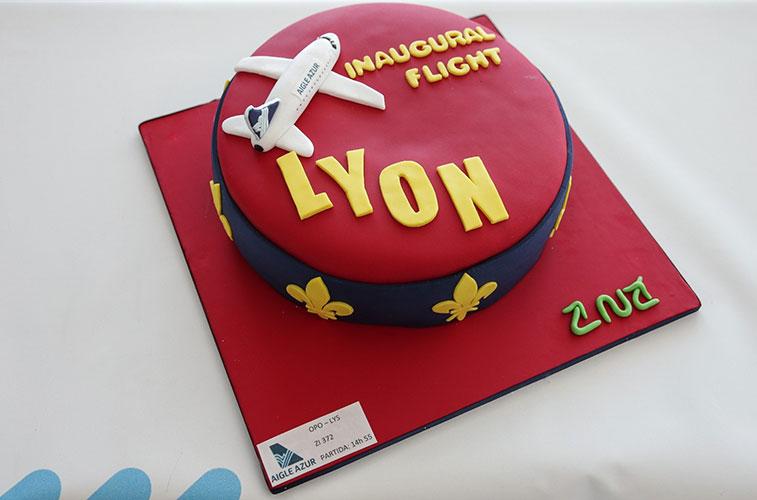 Cake 1 - Aigle Azur Lyon to Porto