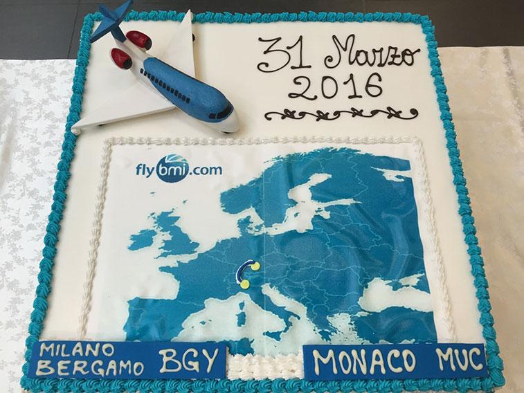 Cake 10 - bmi regional Munich to Milan/Bergamo