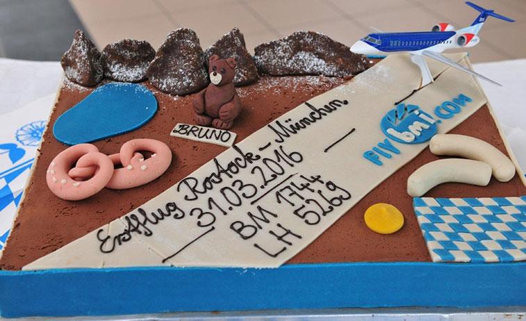 Cake 11 - bmi regional Munich to Rostock