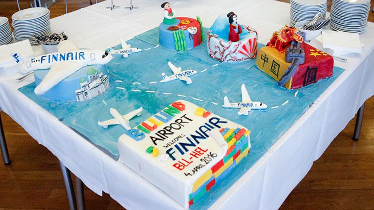 Cake 15 - Finnair Helsinki to Billund