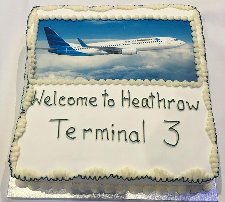 Cake 16 - Garuda Indonesia Jakarta to London Heathrow