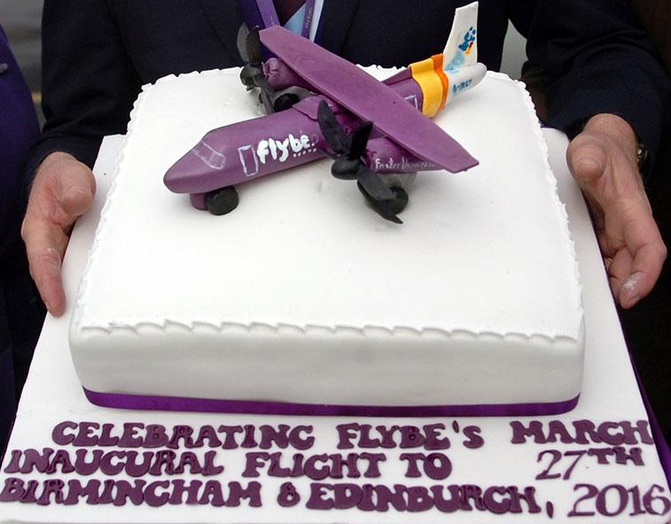 Cake 17 - Flybe Birmingham and Edinburgh to Knock