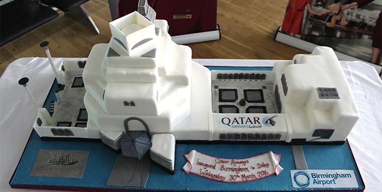 Cake 24 - Qatar Airways Birmingham to Doha