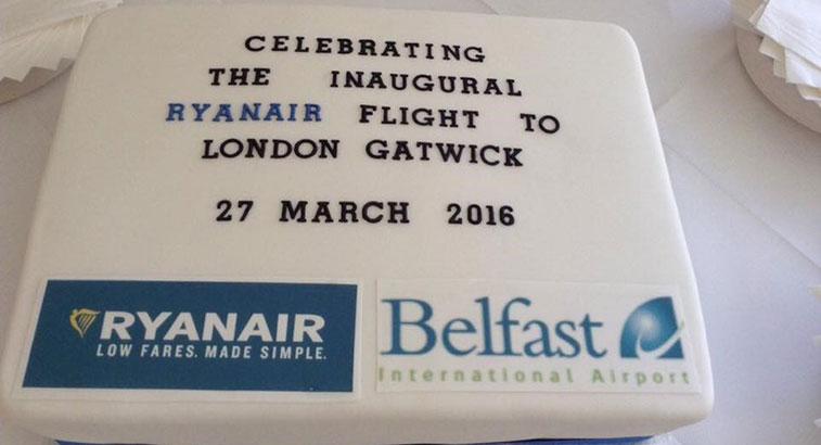 Cake 25 - Ryanair Belfast International to London Gatwick