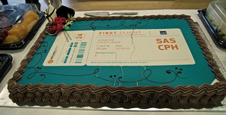 Cake 28 - SAS Copenhagen to Reykjavik/Keflavik