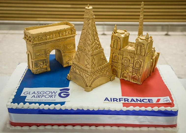 Cake 3 - Air France Paris CDG to Glasgow