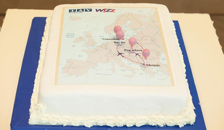 Cake 35 - Wizz Air Skopje to Berlin, Bratislava and Copenhagen