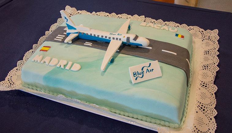 Cake 5 - Blue Air Bacau to Madrid