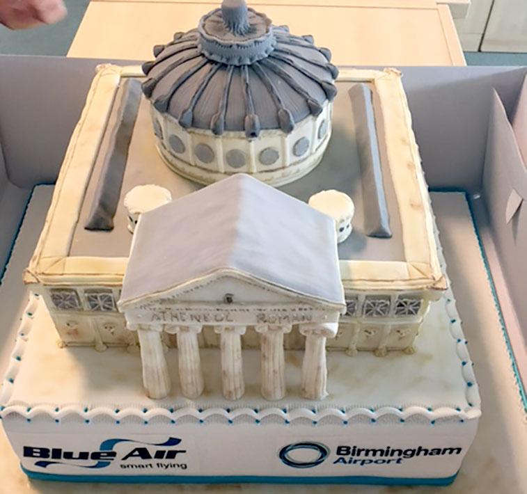 Cake 6 - Blue Air Bucharest to Birmingham