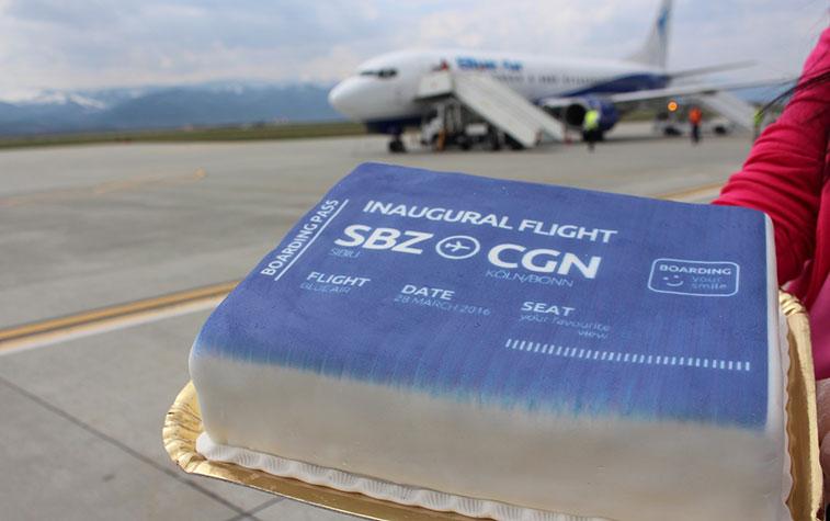 Cake 9 - Blue Air Sibiu to Cologne Bonn