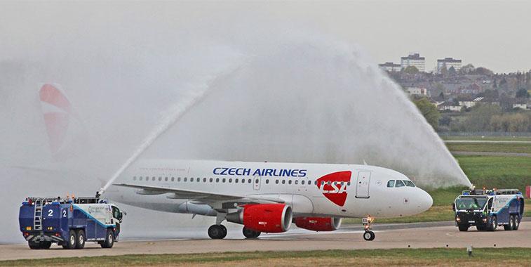 Czech Airlines Prague to Birmingham 22 April