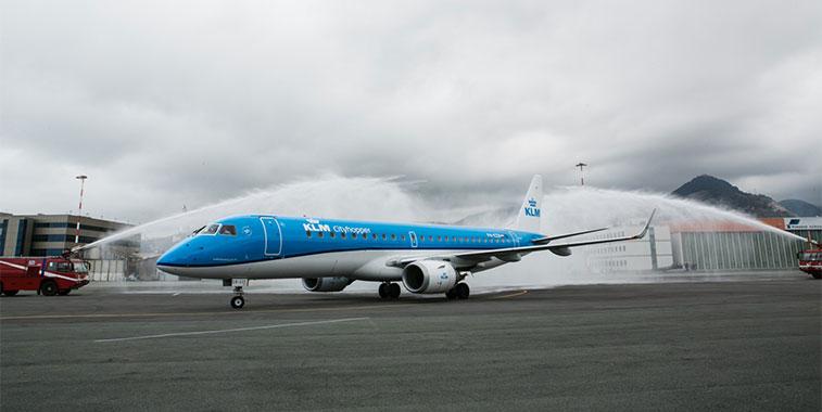 KLM Amsterdam to Genoa 22 April