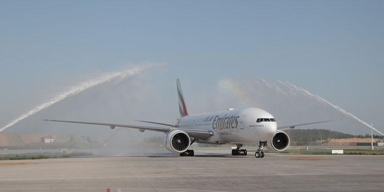 Emirates Dubai to Zhengzhou 3 May