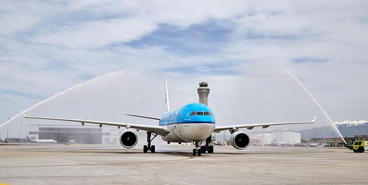 KLM Amsterdam to Salt Lake City 5 May