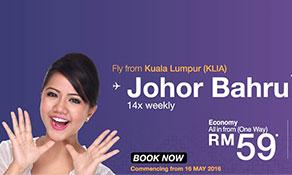Malindo Air jets off to Johor Bahru