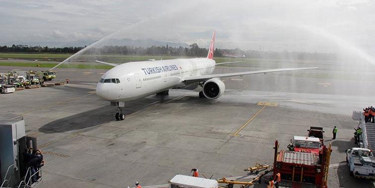 Turkish Airlines Istanbul Atatürk to Bogota 4 May