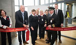 Delta Air Lines debuts transatlantic trio