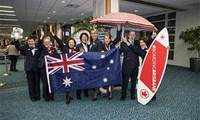 Air Canada surfs into Brisbane
