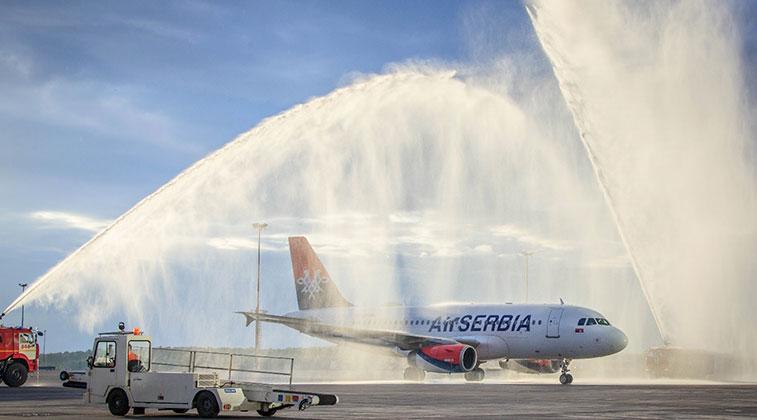 Air Serbia Belgrade to St. Petersburg 18 June