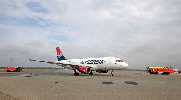 Air Serbia Belgrade to Hamburg 15 June