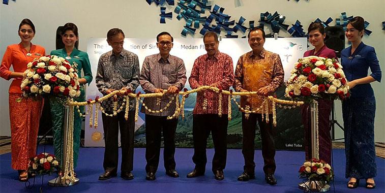 garuda indonesia medan to singapore 14 June ribbon cutting ceremony