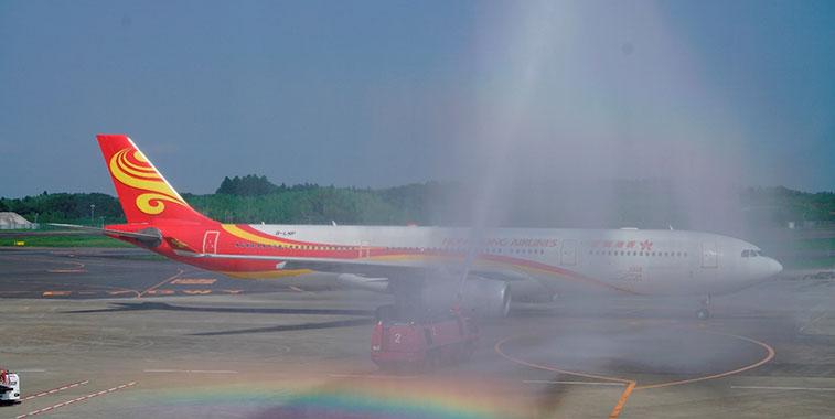 Arch of Triumph win:Hong Kong Airlines Hong Kong to Tokyo Narita 1 July