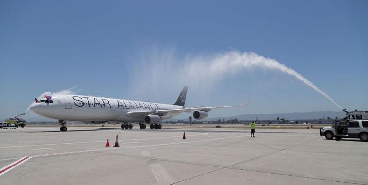 Arch of Triumph win:Lufthansa Frankfurt to San Jose 1 July