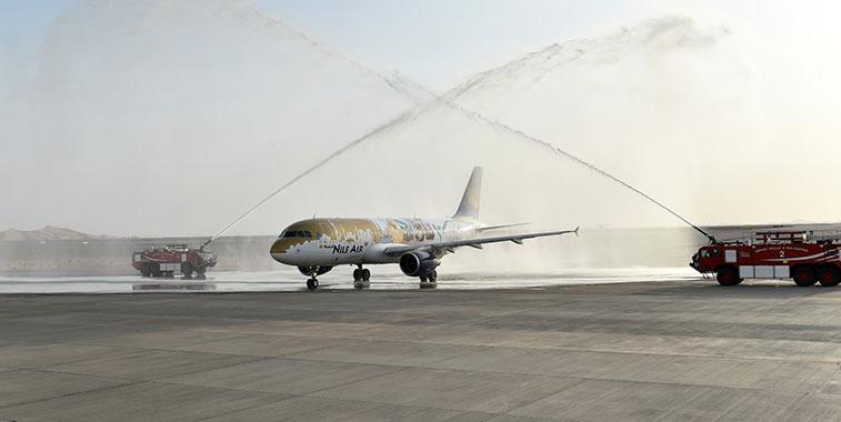 Arch of Triumph: Nile Air Cairo to Al Ain 29 June