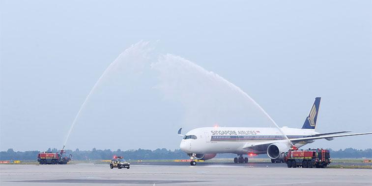 Singapore Airlines Singapore to Düsseldorf 22 July