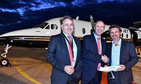 TWIN JET flies into Friedrichshafen