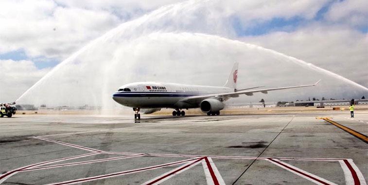 FTWA-Air China Shanghai Pudong to San Jose 1 September
