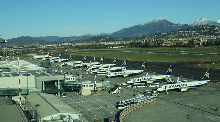 Milan/Bergamo is Ryanair's biggest base in mainland Europe